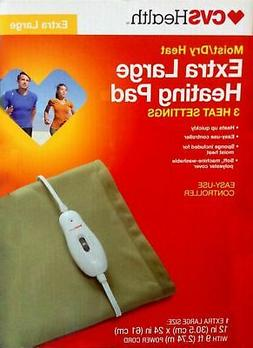 CVS Extra Large XL 3 Setting Moist Dry Heating Pad & Control