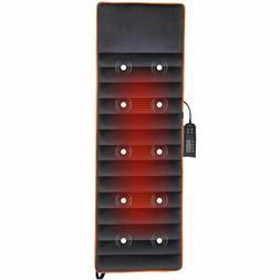 Foldable Full Body Massage Mat 10 Vibrate Motors Heating Pad