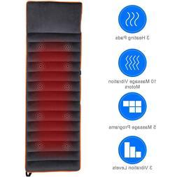 Costway Foldable Full Body Massage Mat 10 Vibrating Motors R