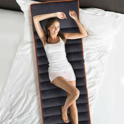 Foldable Full Body Massage Mat 10 Vibrating Motors Heating P