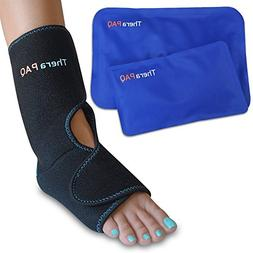 Foot & Ankle Pain Relief Ice Wrap with 2 Hot/Cold Gel Packs