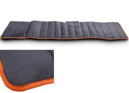 Full Body Plush Massage Mat Foldable Heating Pad Neck Back L