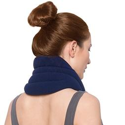 Sunny Bay Hands-Free Unscented Neck Heating Wrap, Navy Blue,