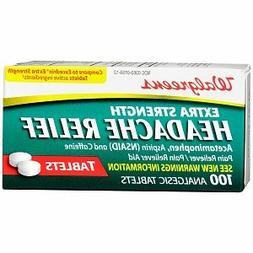 Walgreens Headache Relief Tablets 100 ea