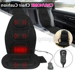 Heated Back Massage Seat Cushion Car Seat Chair Lumbar Neck