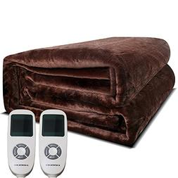 Heated Blanket, 100% Luxurious Supersoft Flannel, Electric H