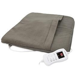 "Serta Heated Foot Warmer with Massage, 20 x 24"", Mushroom"