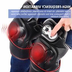 New Knee Arthritis Heating Therapy Pad Massage Brace Pain Re