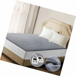 Heated Mattress Pad Underblanket Dual Controller for 2 Users