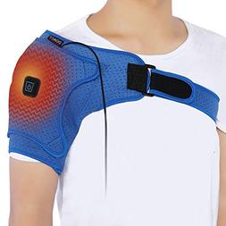 Doact Heated Shoulder Wrap Brace, USB Electric Shoulder Heat