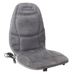 Heated Velour Seat Cushion with Added Lumbar Support - Plugs