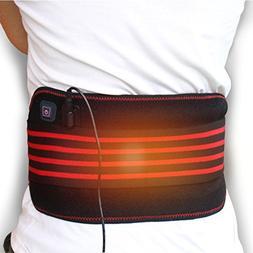 Creatrill Heated Waist Belt Wrap, 3 Heat Settings, Heating P