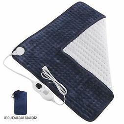 "MoMA Heating Pad - 23x24"" Large Electric Heating Pad with Au"