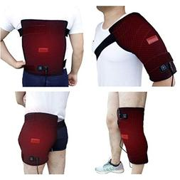 Creatrill Large Heating pad with Wrap for Shoulder, Hip, Bac