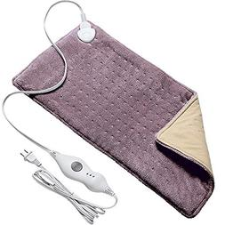 """FIGERM 12"""" X 24"""" Extra Large Heating Pad with 2-Hour Auto-Of"""