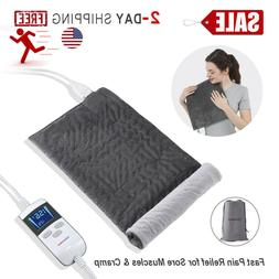 LCD Panel XL Super Soft Electric Heating Pad for Back Pain &
