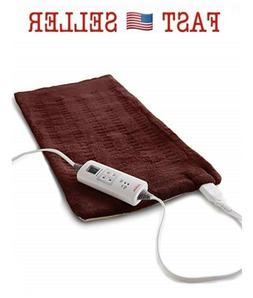 Sunbeam Heating Pad Fast Pain Relief XL XpressHeat 6 Heat Se