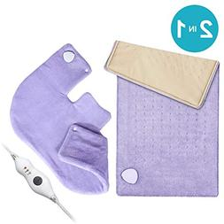 "Heating Pad Gift Set of 2 - King Size 18"" x 25"" Shoulder Hea"