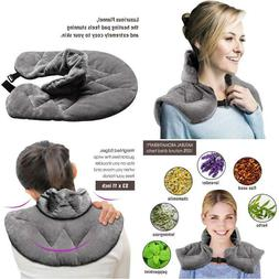 Heating pad microwavable, Hot/Cold Neck Wrap Natural Herbal