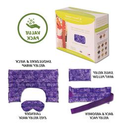 Heating Pad Set for Natural Pain & Stress Relief- Microwavea