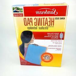 "Sunbeam Heating Pad UltraHeat 12""x24"" New King Size pain rel"