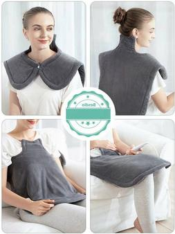 Heating Pad Wrap, for Neck Shoulders Whole Back Pain Relief