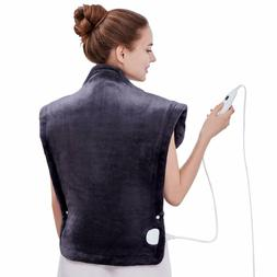 Heating Pad Wrap, for Neck Shoulders Whole Back Pain Relief,