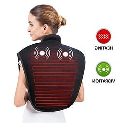 Heating Pad for Neck and Shoulders - Heat Wrap with Adjustab