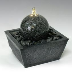 Algreen Illuminated Relaxation Outdoor Fountain with Granite