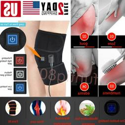Knee Heating Pad Electric Heat Therapy Wrap Support Brace Ar