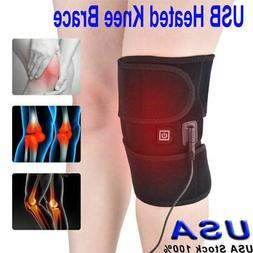 Knee Heating Pad Heated Therapy Wrap Support Brace Arthritis