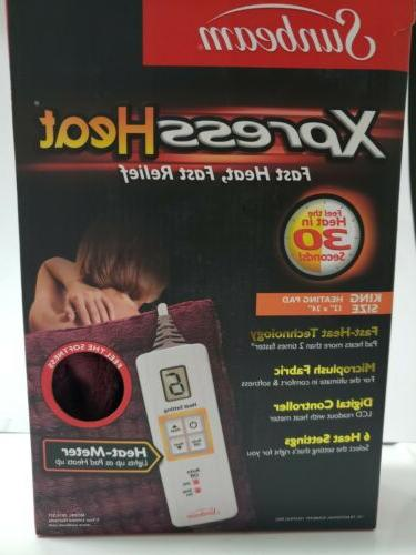 2013 511 king size xpressheat heating pad