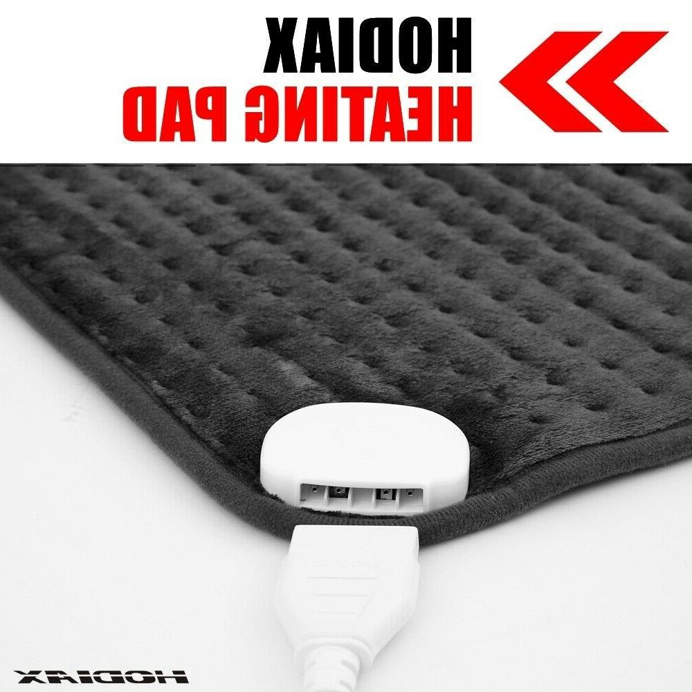 "24""x12"" Heating Pad XXL Ultra Wide Microplush For Neck Feet"