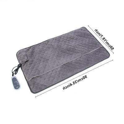 28W Electric Pad Warming Mat Heated Blanket Timer office