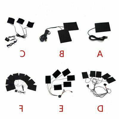 3/6/8PCS USB Heating Pads Vest Heater Warm USA