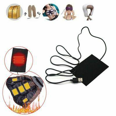 2/5/8PCS 5V USB Electric Heating Pads Vest Clothes Heater Pa