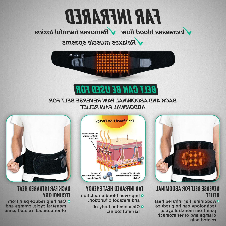 Cordless Heating Pad Lower Back Brace Massage Belt