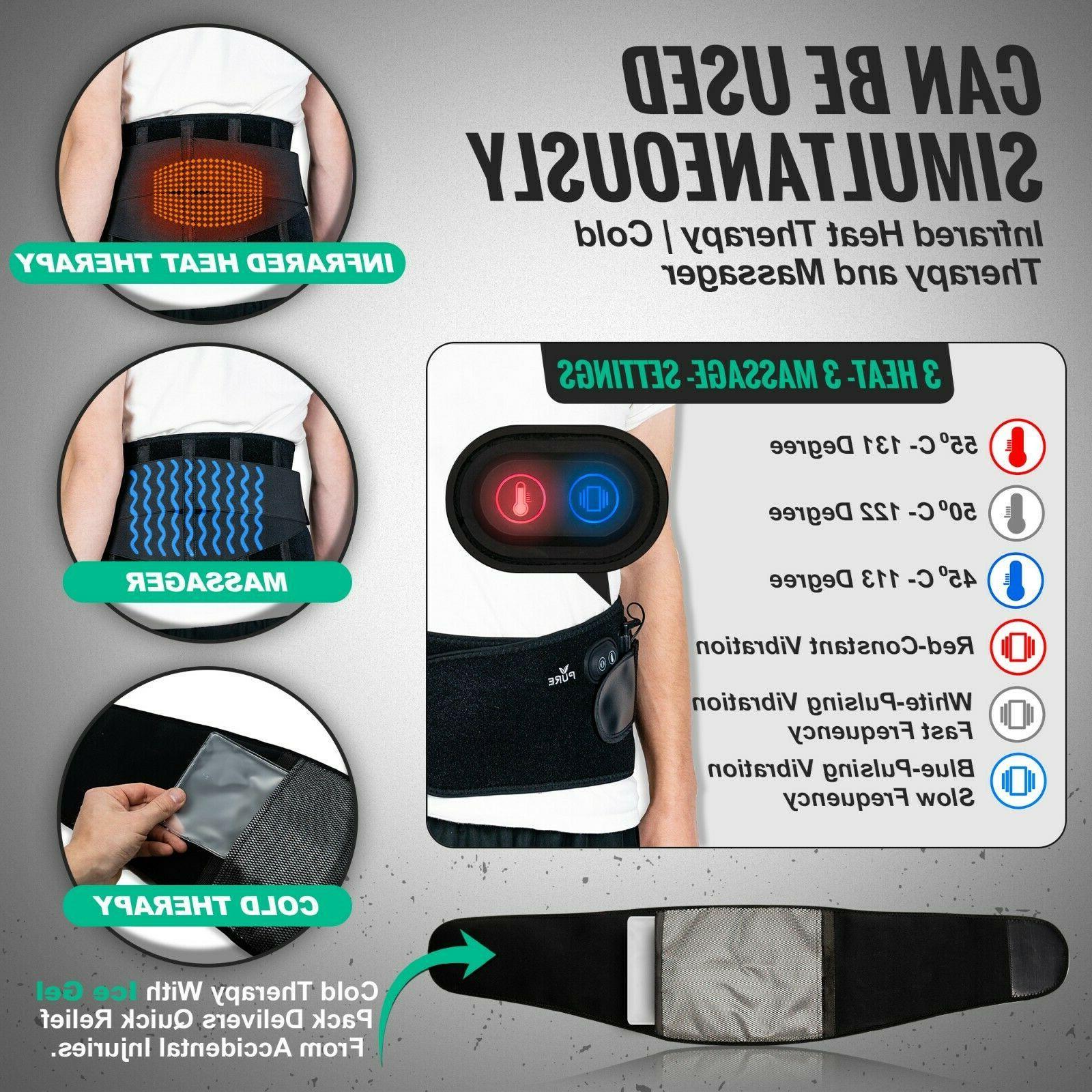 Cordless Pad Back Massage Belt Relief