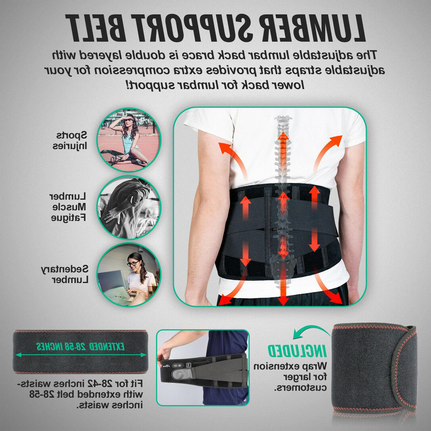 Cordless Pad Lower Back Lumbar Support Massage Belt Pain Relief