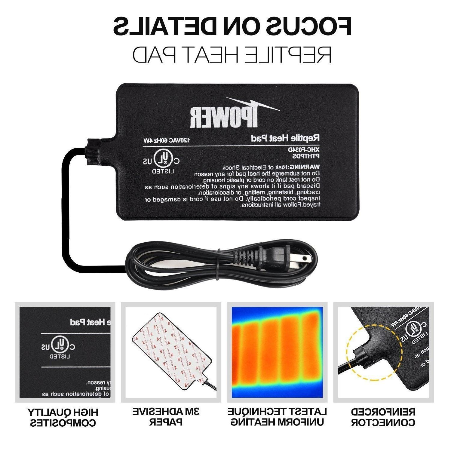 iPower UL Under Tank Reptile Heating Thermostat