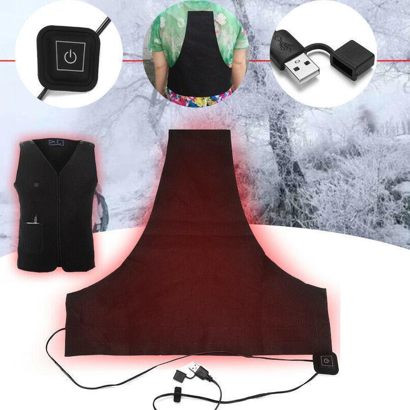 5v usb electric heater vest heated pad