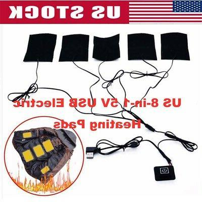 5v usb electric heating pads vest clothes