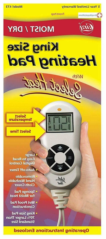 73 heat pad moist dry lcd switch