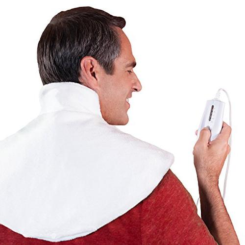Dr. Bob's Neck Wrap Pad - Doctor for Heat Relief U.L. Approved, 2 hr. shutoff, moist/dry washable