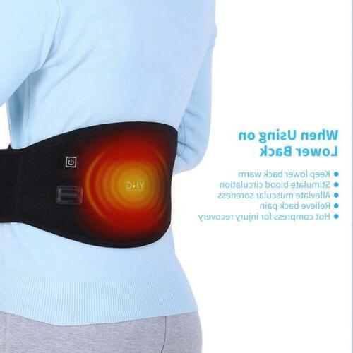 Back Support Belt Heating Brace Lumbar Kit
