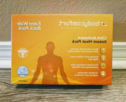 NEW BODYCOMFORT Click Activated Instant Heat Pack Back Pain