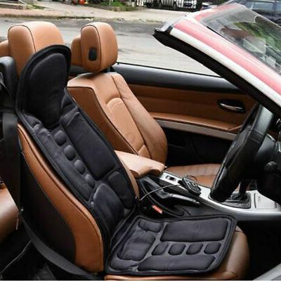 Car Heated Seat Cushion Back Neck Pain Lumbar Pad 12V