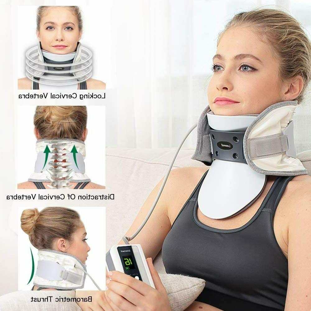 Cervical Decompression with Heating Pad Electric Pump Size