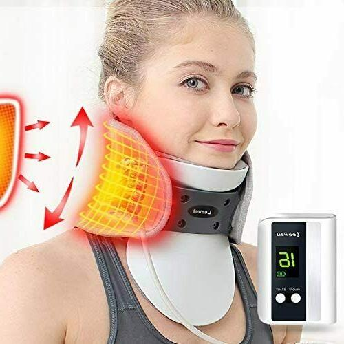 cervical neck traction belt decompression with heating