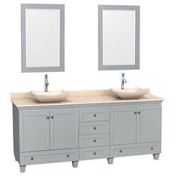 Double Sink Bathroom Vanity with 2 Mirrors